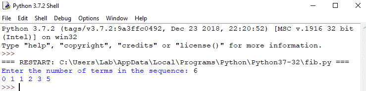 fibonacci sequence in python without recursion